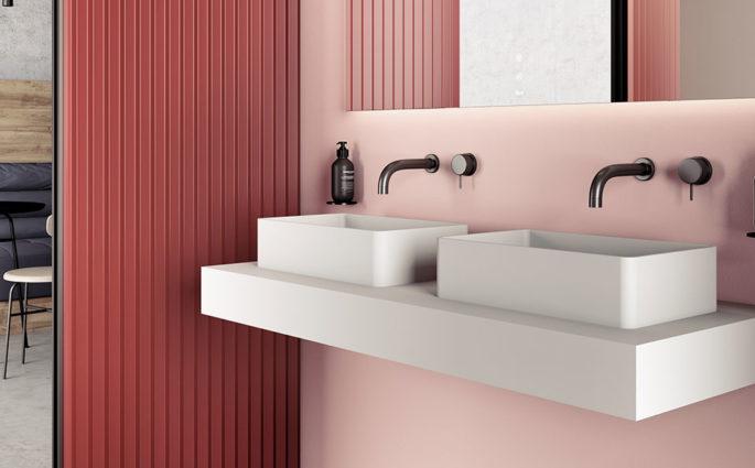 lavabi appoggio piano doppio