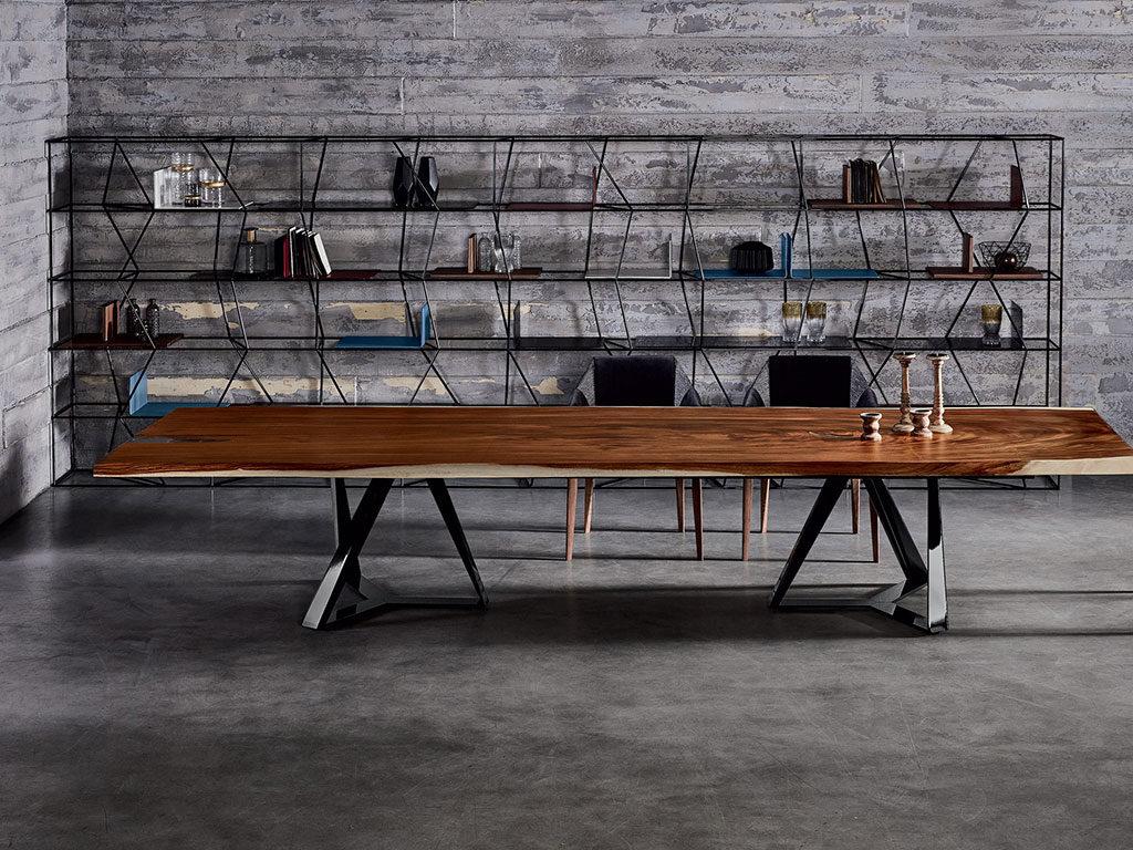 libreria minimal metallo