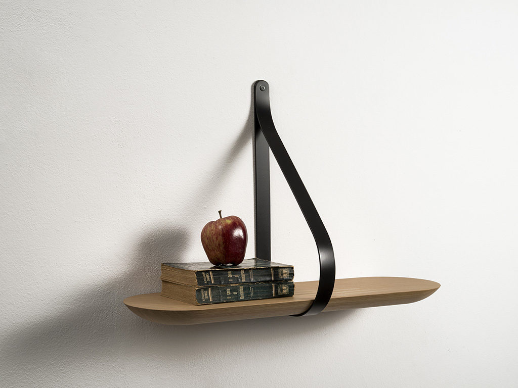 mensola design legno parete