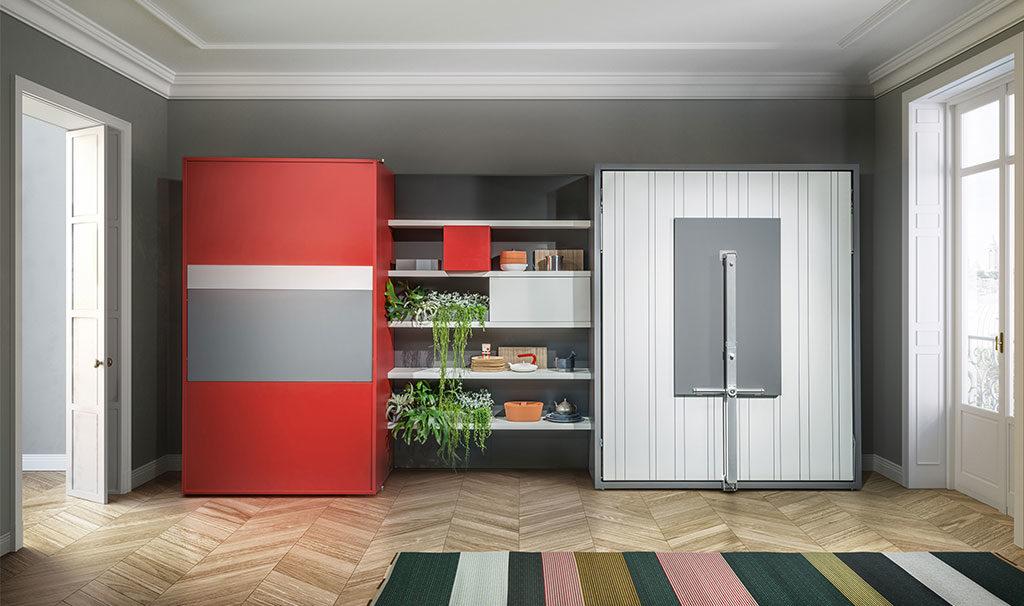 mobile living cucina e letto