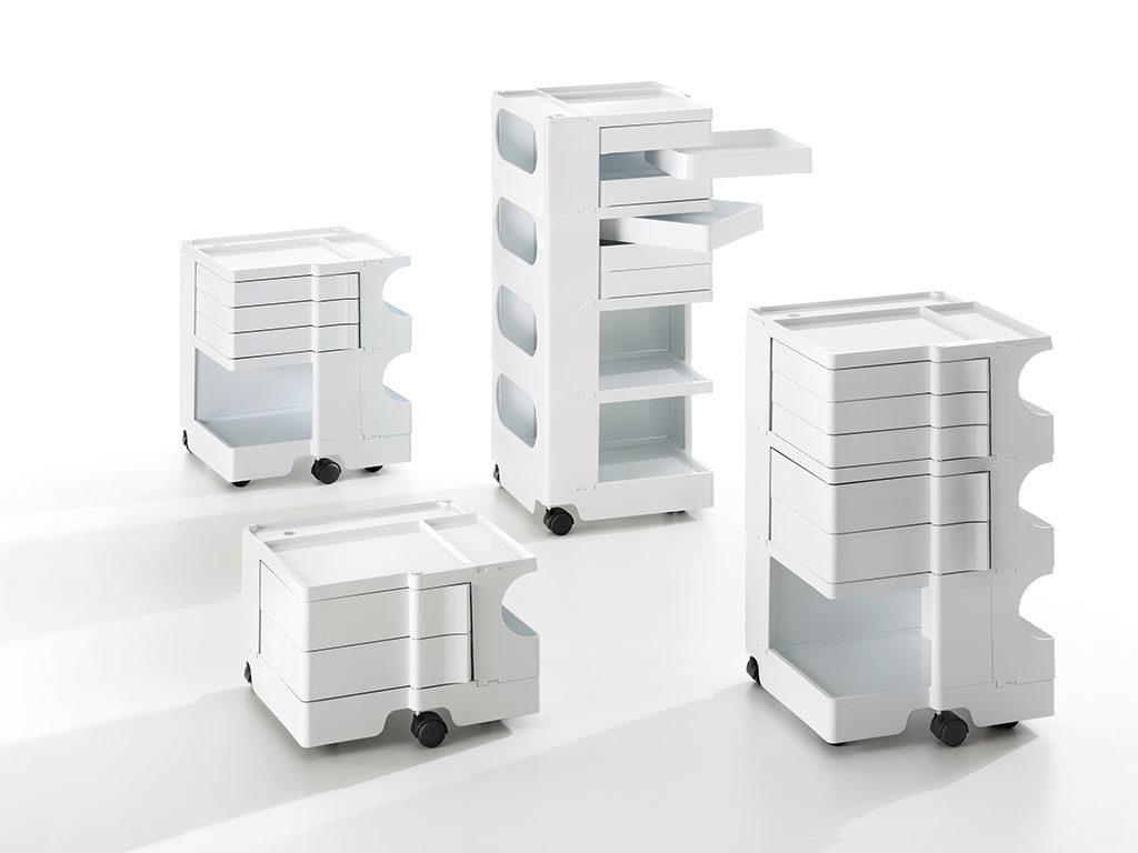 mobiletto carrello contenitore bianco
