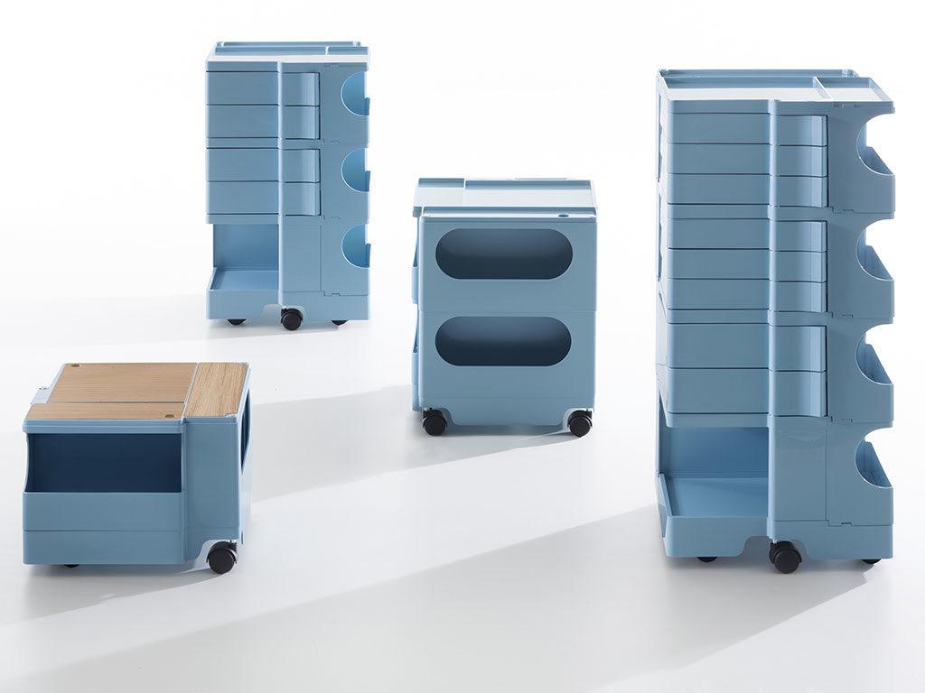 mobiletto contenitore azzurro
