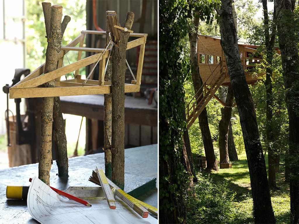 modellino casa su albero