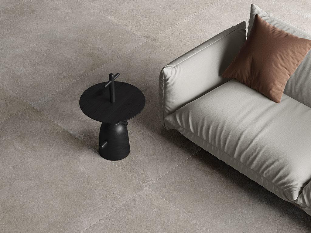 pavimento effetto pietra living