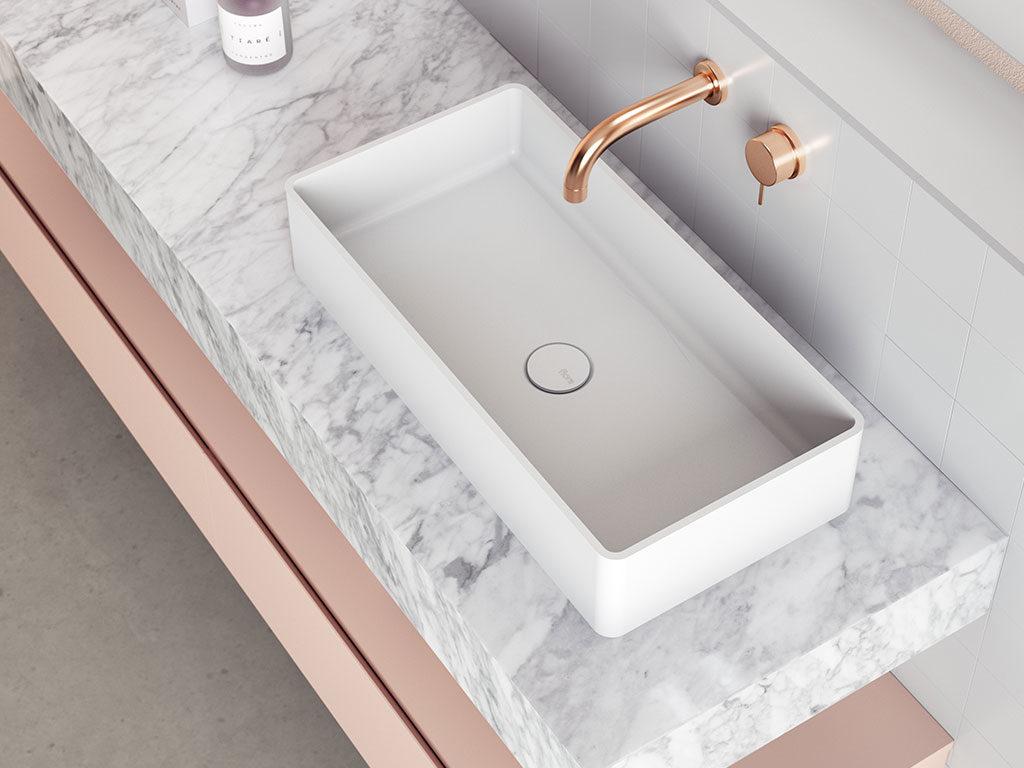 piano appoggio lavabo marmo bianco