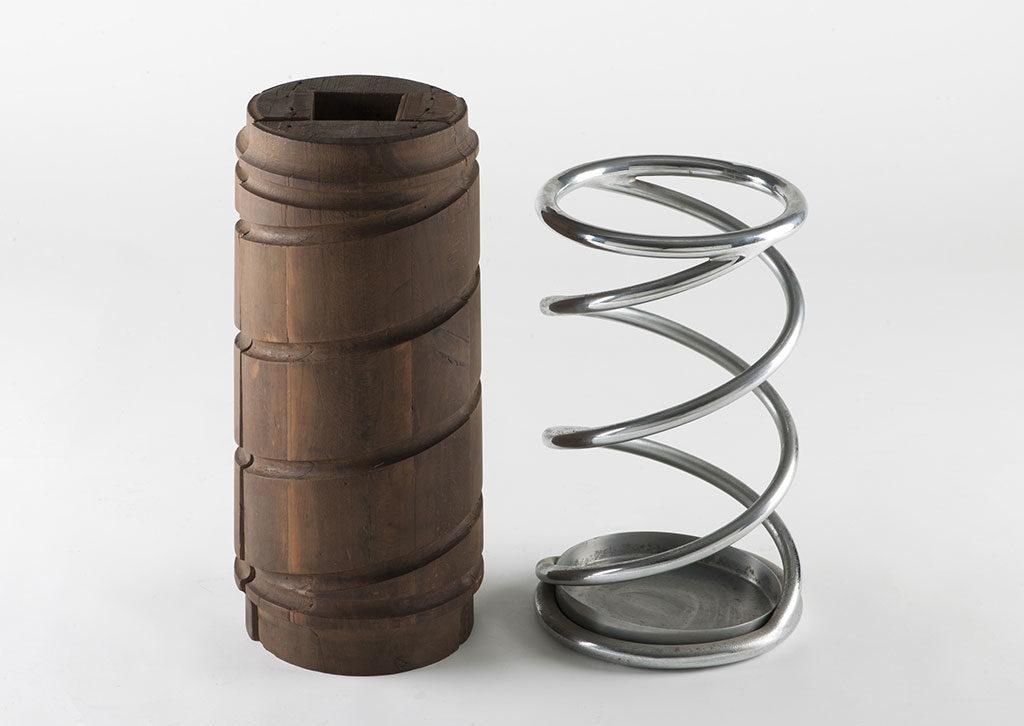 portaombrelli acciaio design anni 30
