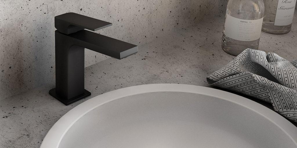 rubinetto miscelatore nero