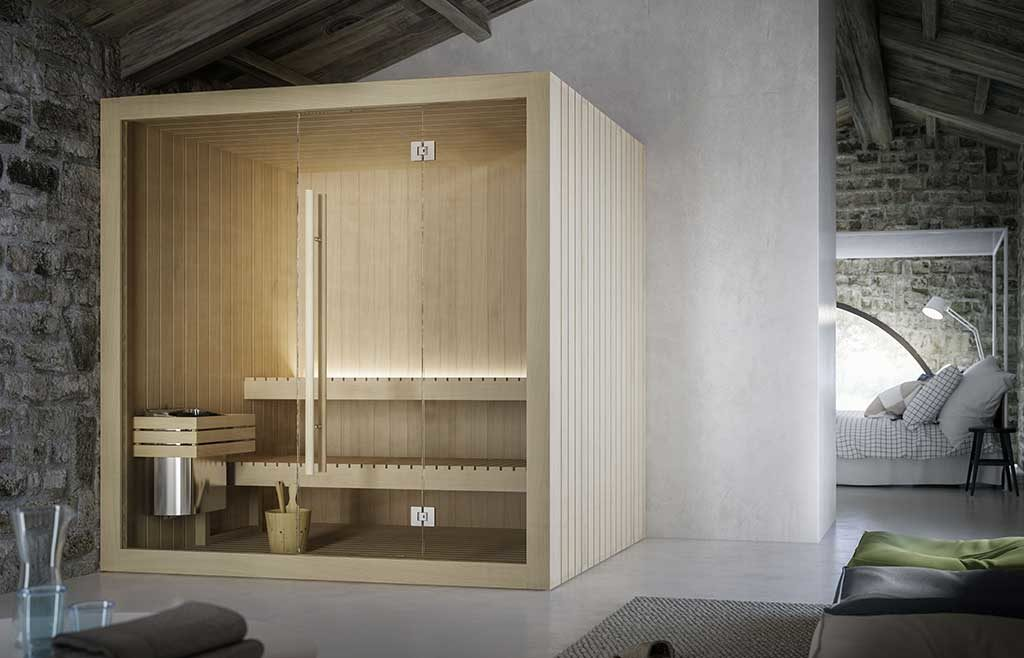 sauna legno indoor