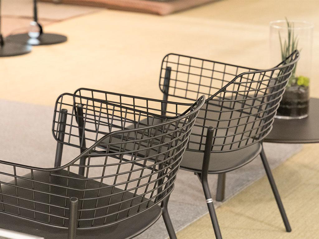 sedie per esterno nero