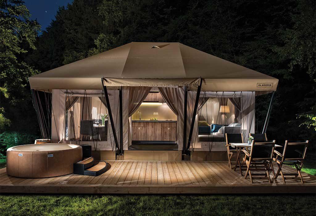 tenda campeggio lusso