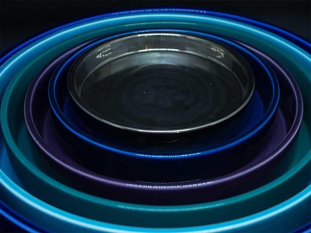 piatti ciotole design blu azzurro