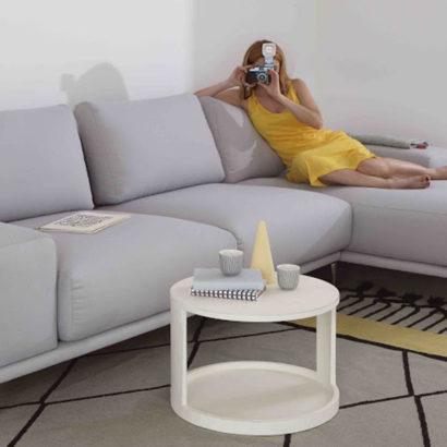 divano grigio angolare design