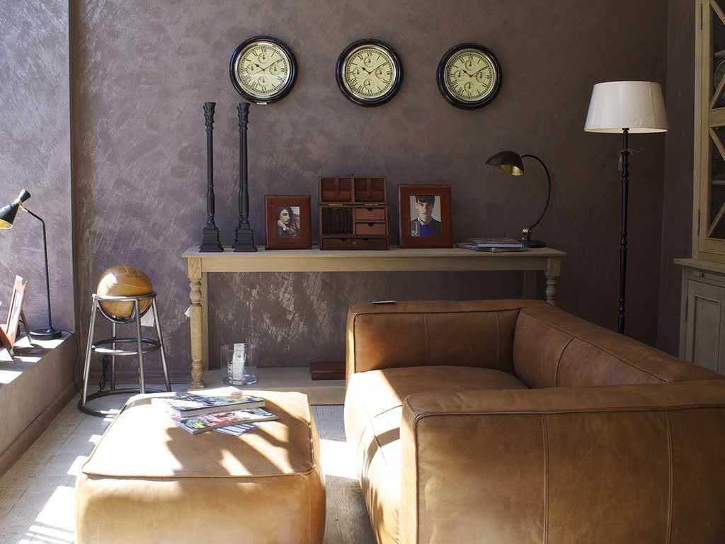 living casa parete grigio