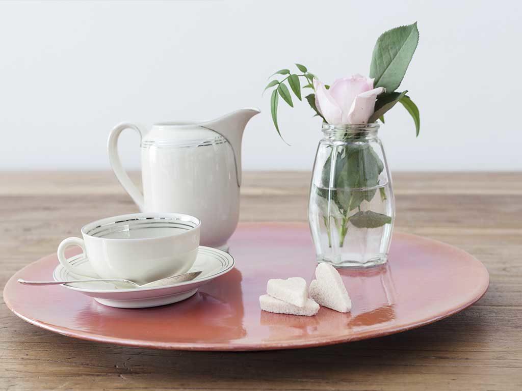 piatto ceramica vassoio colorato