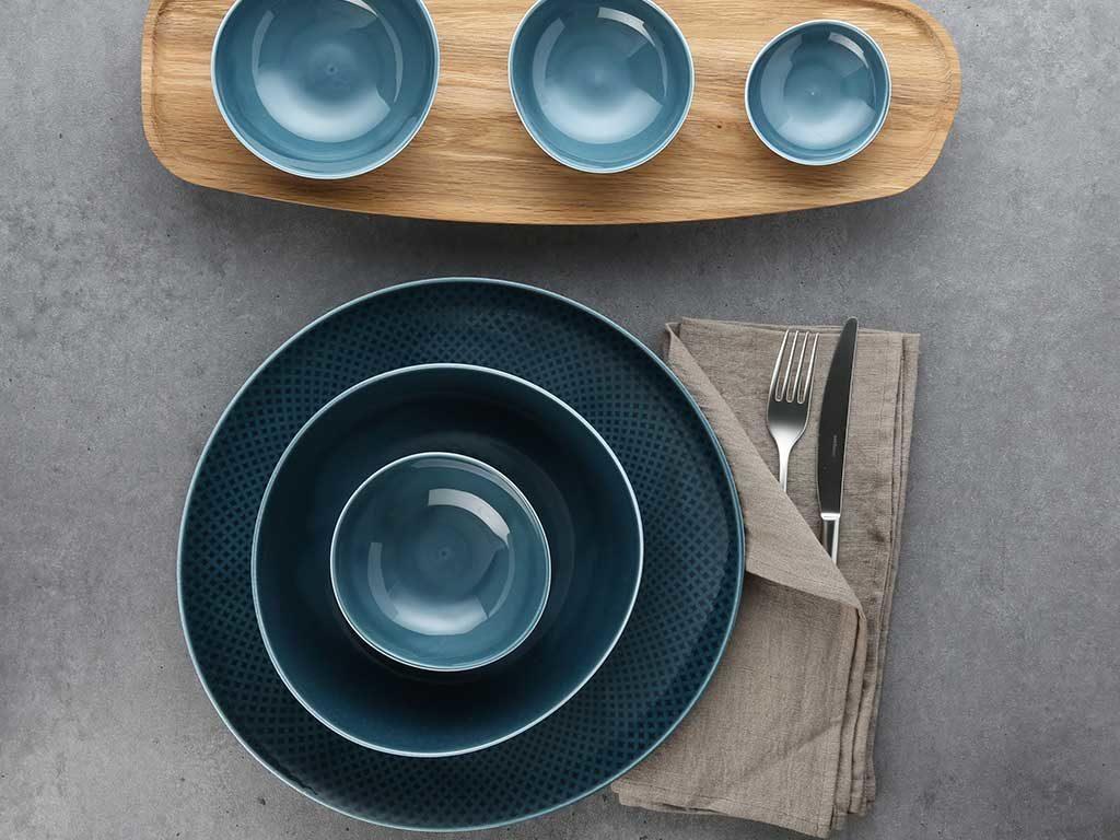 piatto sottopiatto ciotola azzurro