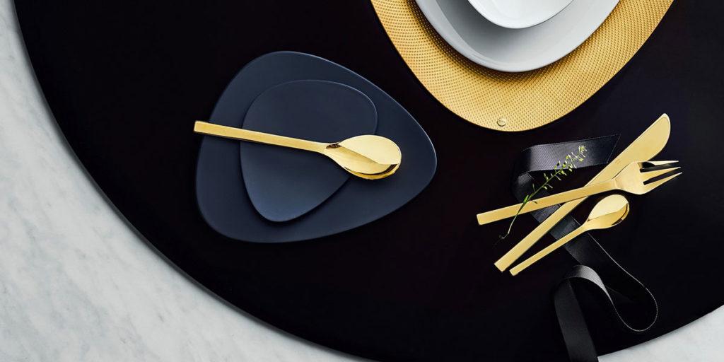 posate color oro design