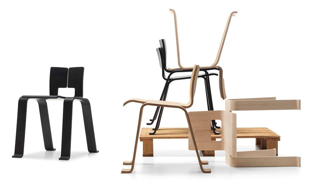 sedia leggera impilabile