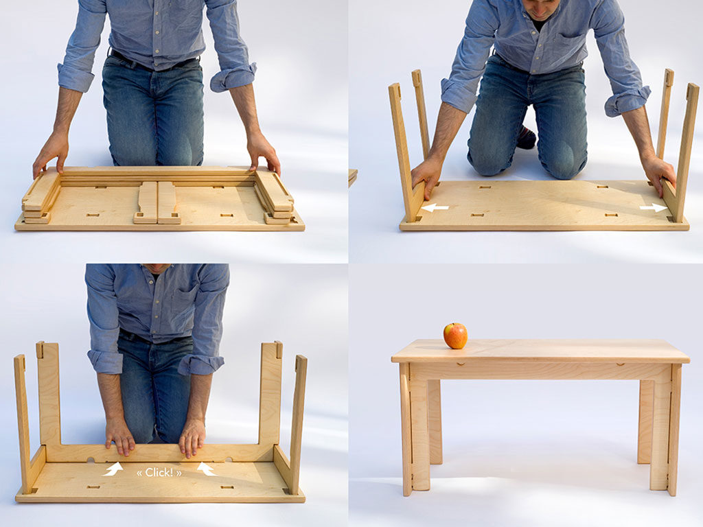 sequenza montaggio tavolino