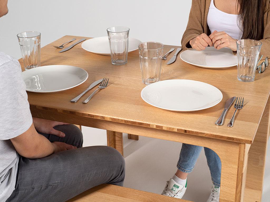 tavolo e panca in rovere