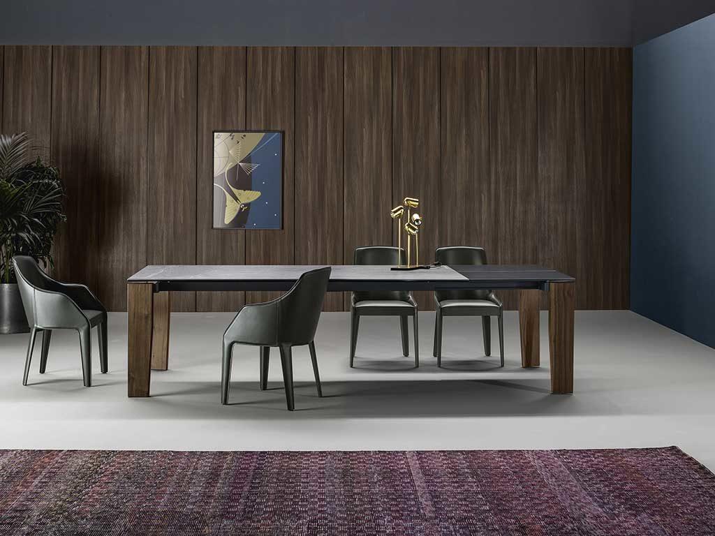 tavolo legno gambe rovere