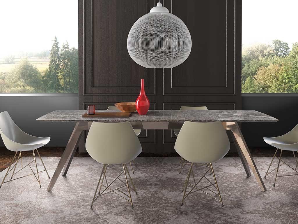 tavolo rettangolare piano marmo