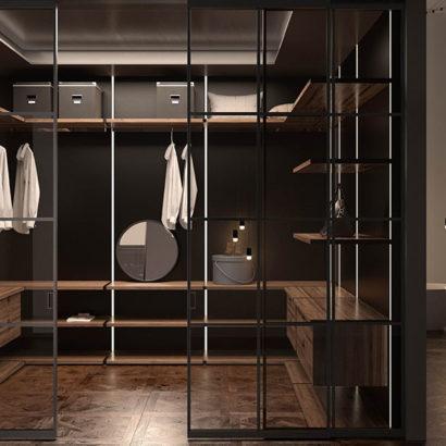 cabina armadio a giorno