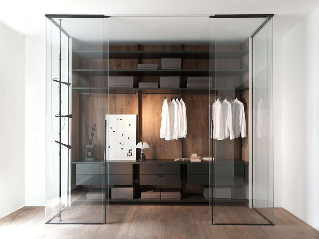 cabina armadio giorno vetro