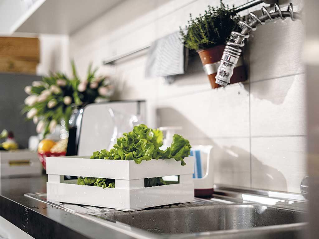 cassetta bianca porta verdura