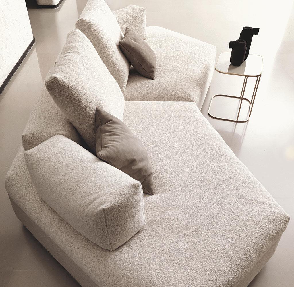 chaise longue divano bianco
