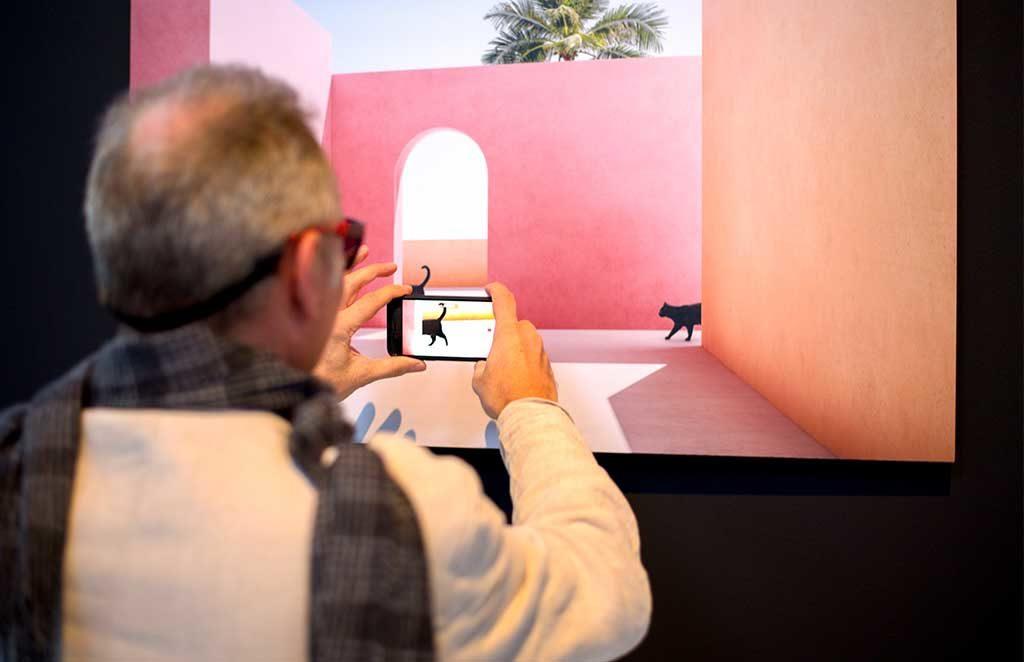 foto quadro gatto smartphone
