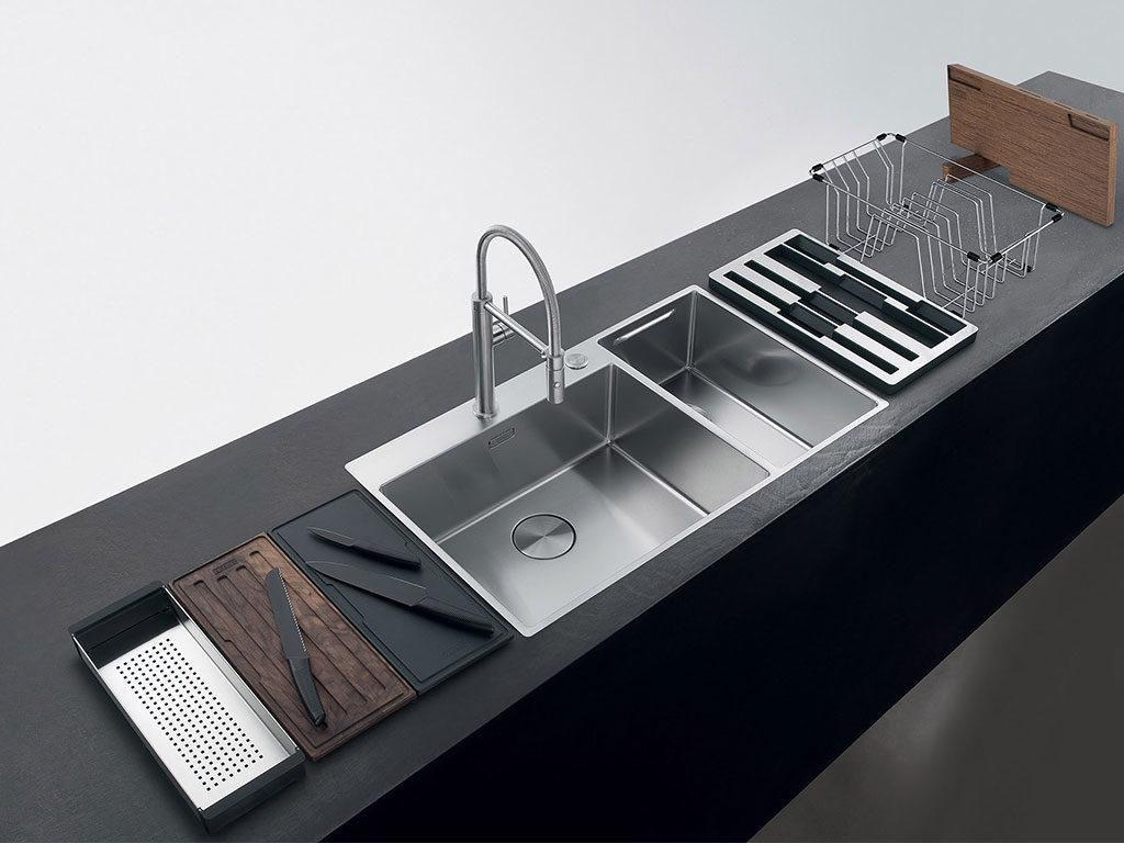 lavello doppia vasca acciaio
