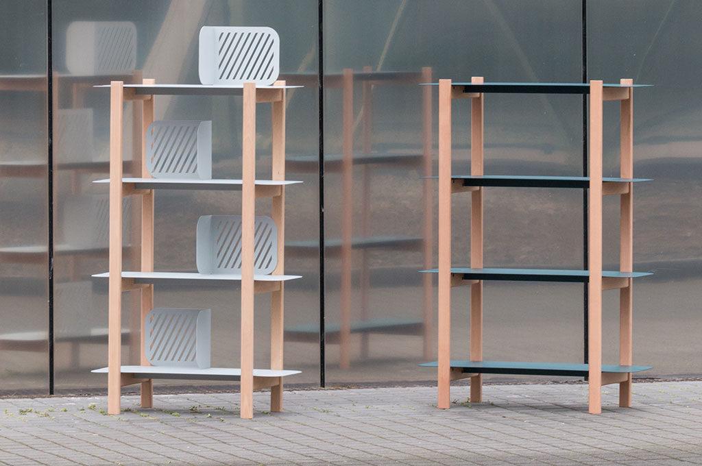 librerie metallo e legno design
