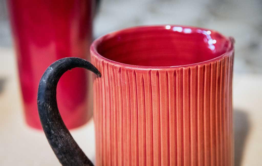 mug ceramica artigianale rosso