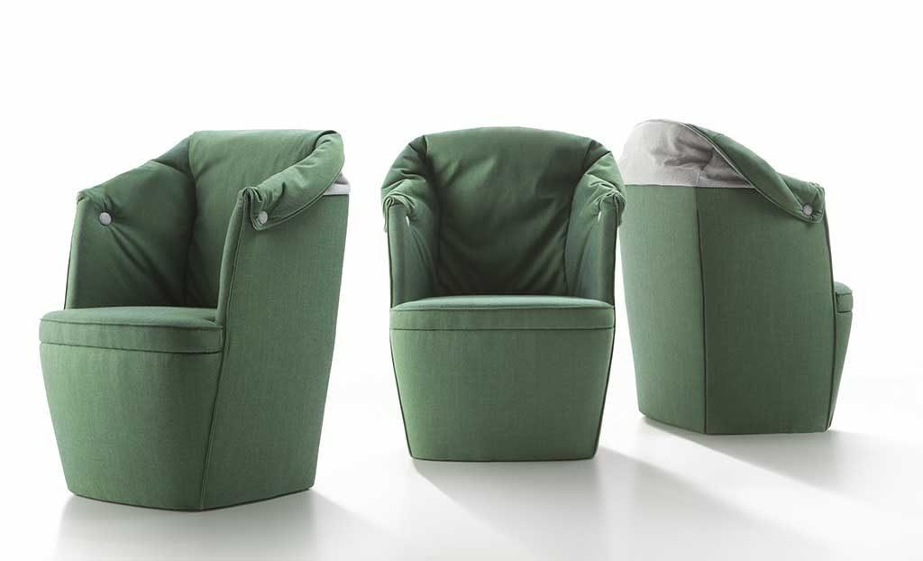 poltroncine verdi salotto design