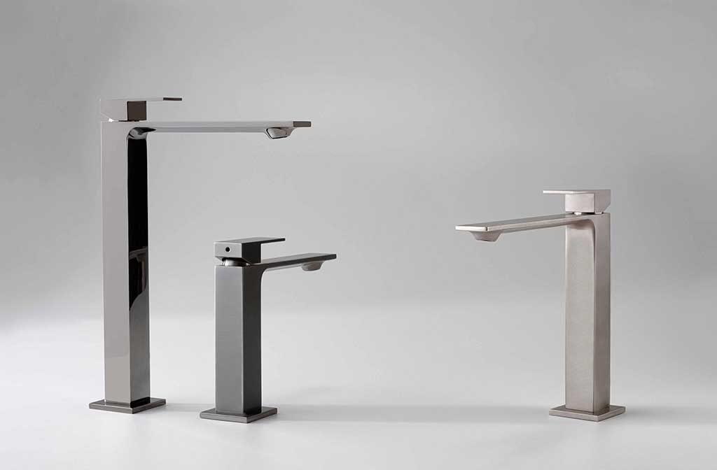 rubinetti miscelatore design squadrato