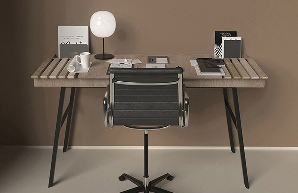 scrivania legno minimal design