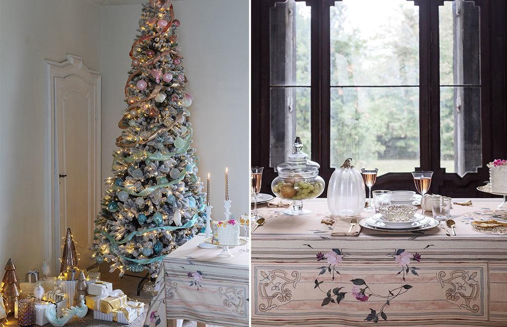 tavola e albero natale cenerentola