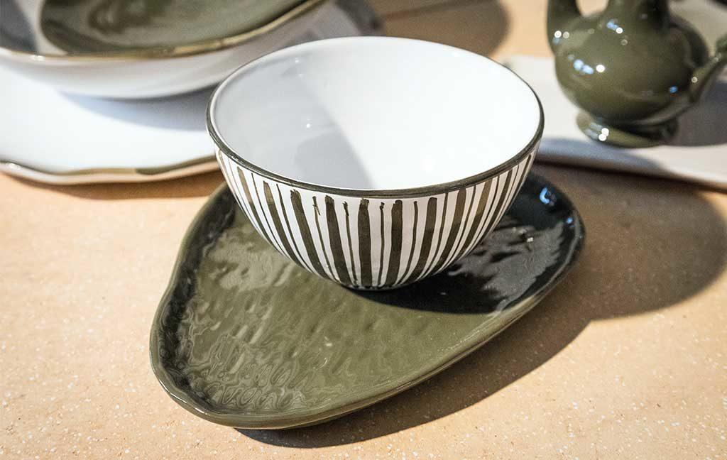 tazza ceramica decoro a mano
