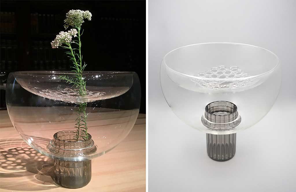 vaso decorativo vetro soffiato
