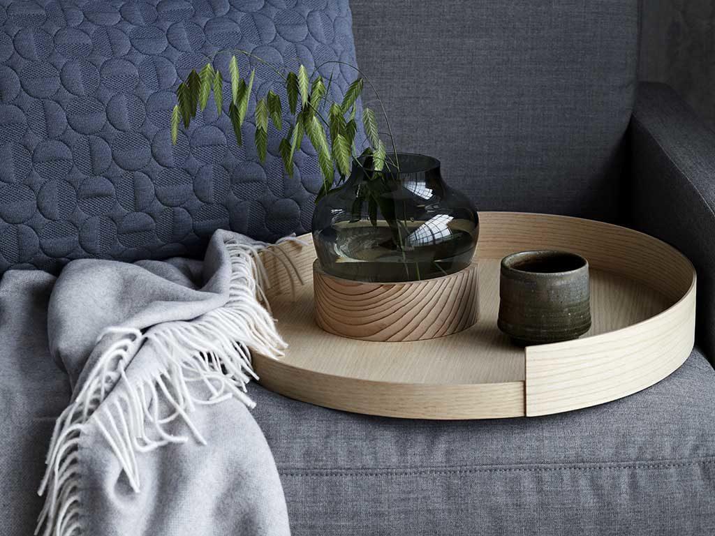vassoio tondo legno design