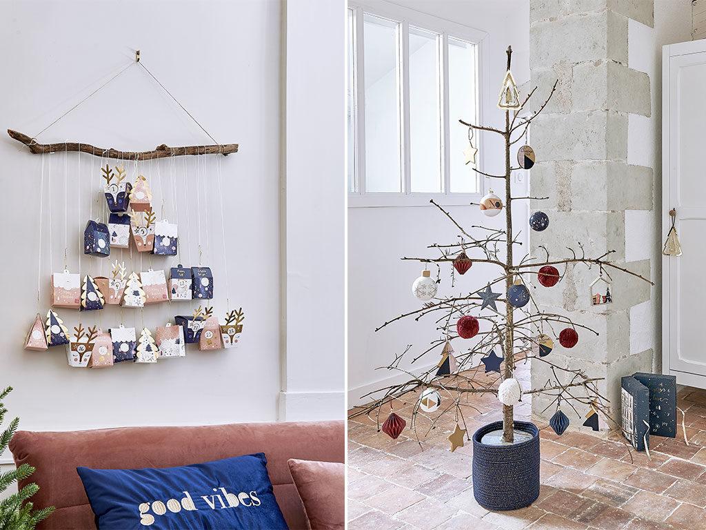 decorazione natale parete albero
