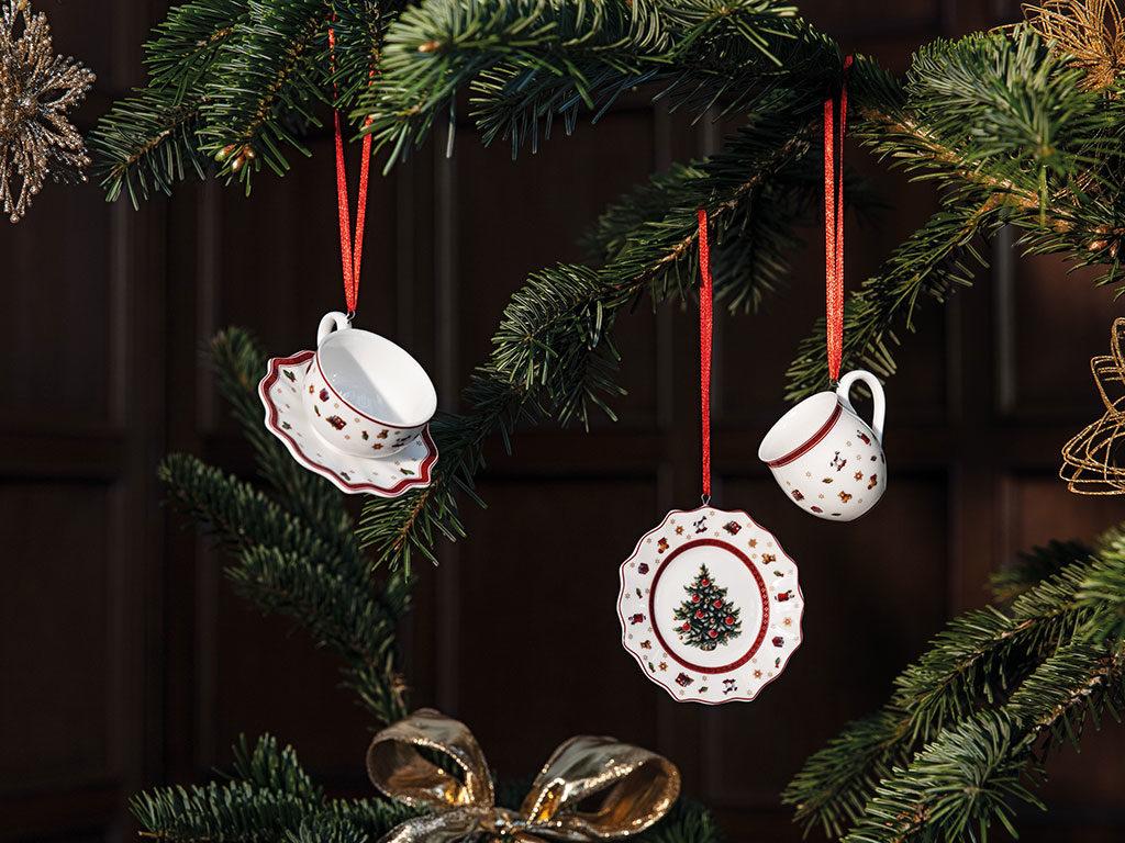 decorazioni albero natale tazzine