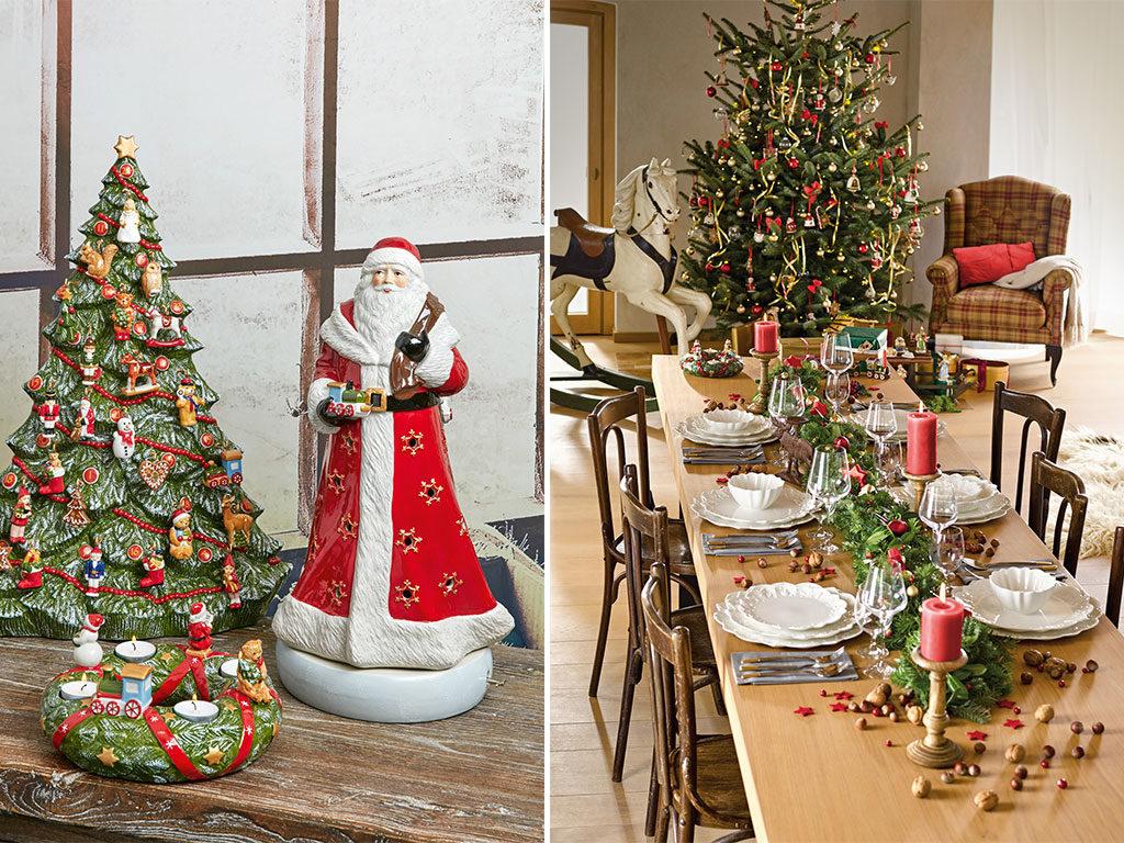 decorazioni tavola natale albero babbo natale
