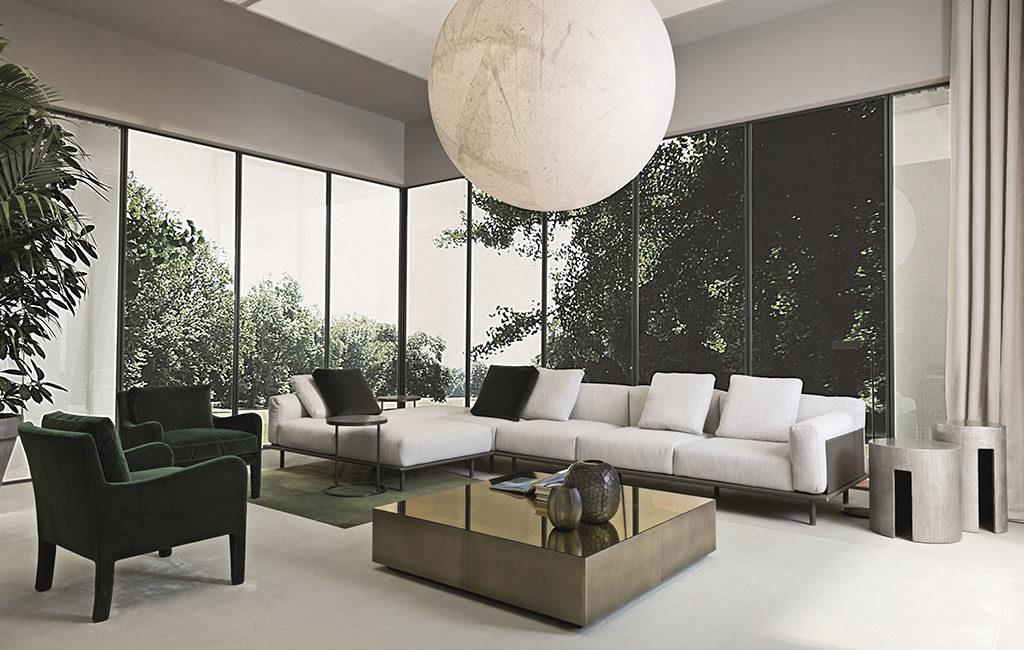 divano angolare bianco grande