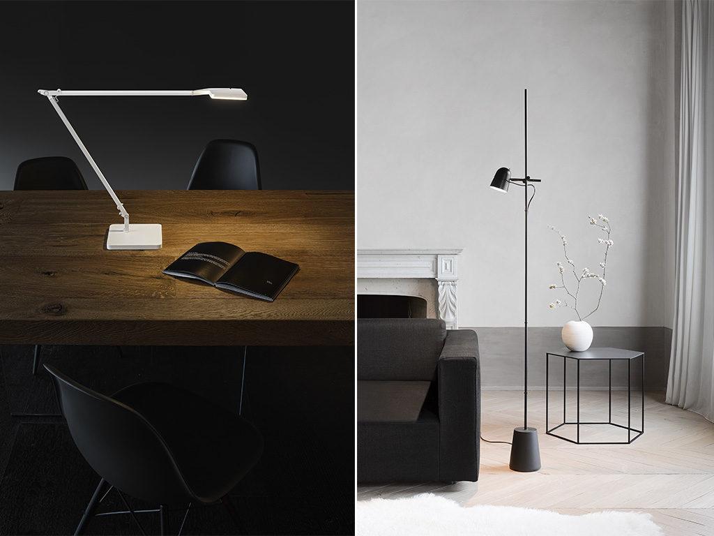 lampada da tavolo e lampada da terra