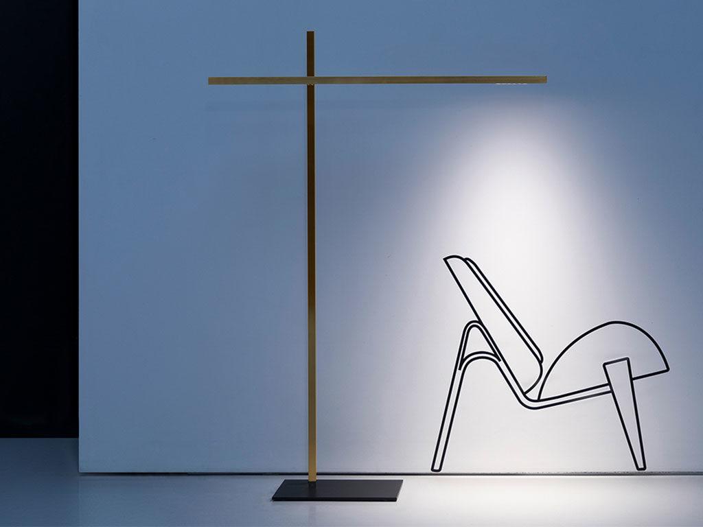 lampada terra stelo sottile design
