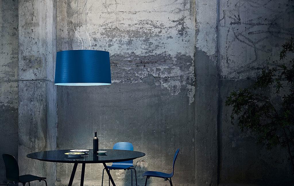 lampada sospensione blu