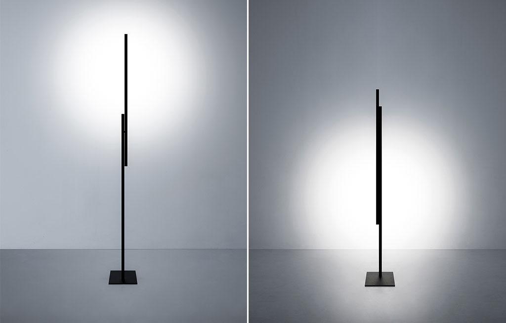 lampada terra design multiposizione