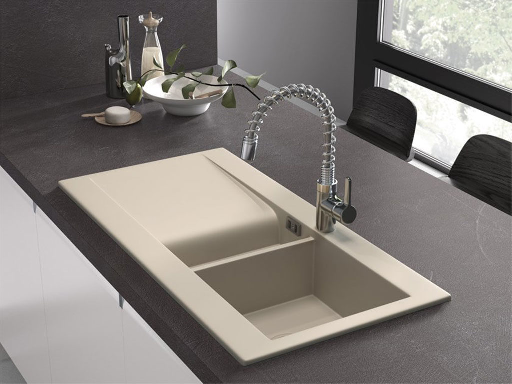 lavello cucina con vaschetta