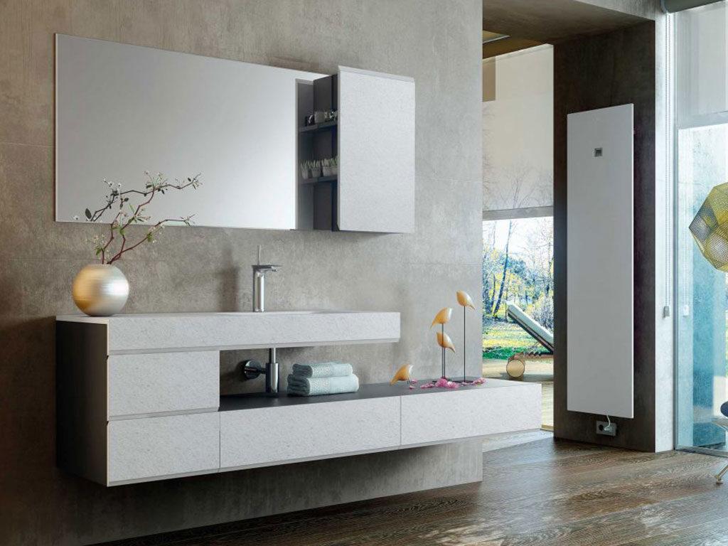 mobile bagno sospeso parete